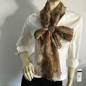 🇮🇹 Snakeskin printed scarf/shawl